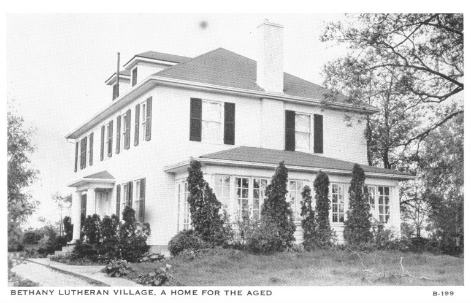 Exterior shot of original Bethany Village Home for the Aged